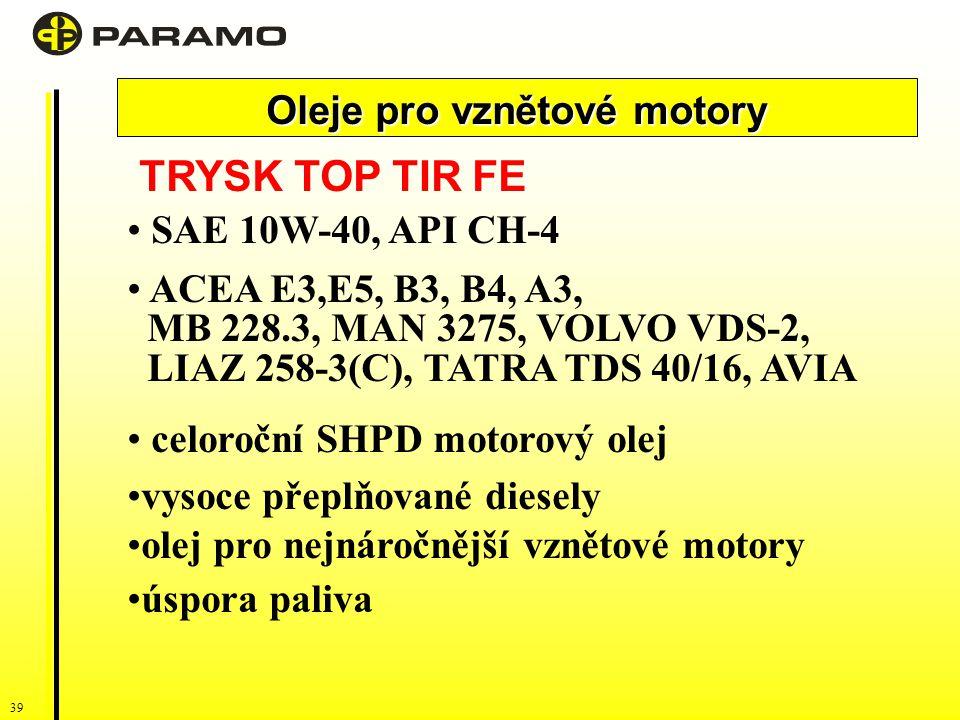 Oleje pro vznětové motory