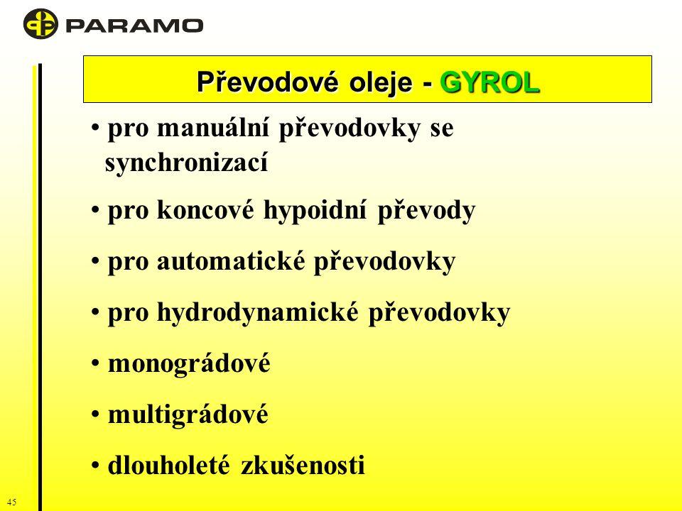 Převodové oleje - GYROL