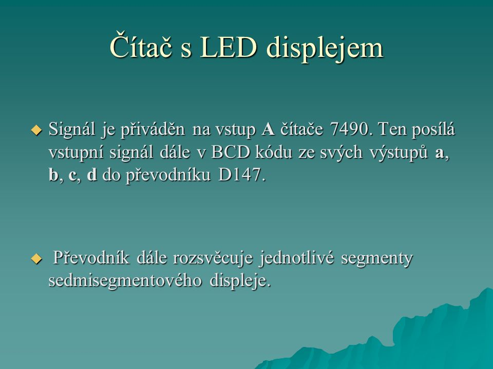 Čítač s LED displejem