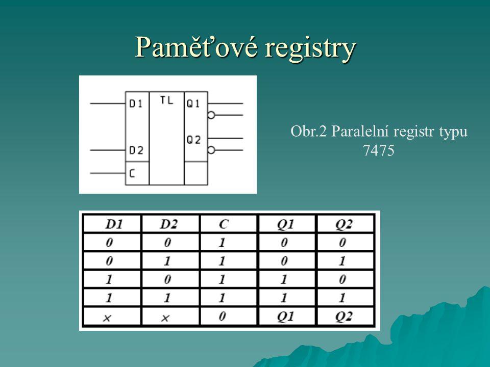 Obr.2 Paralelní registr typu 7475