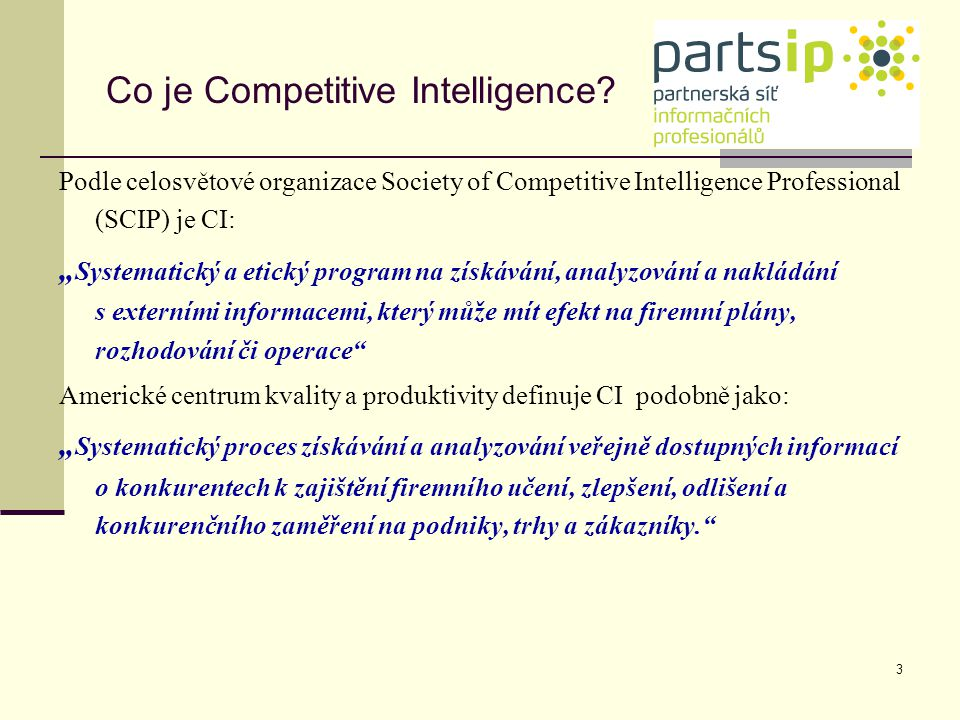 Co je Competitive Intelligence