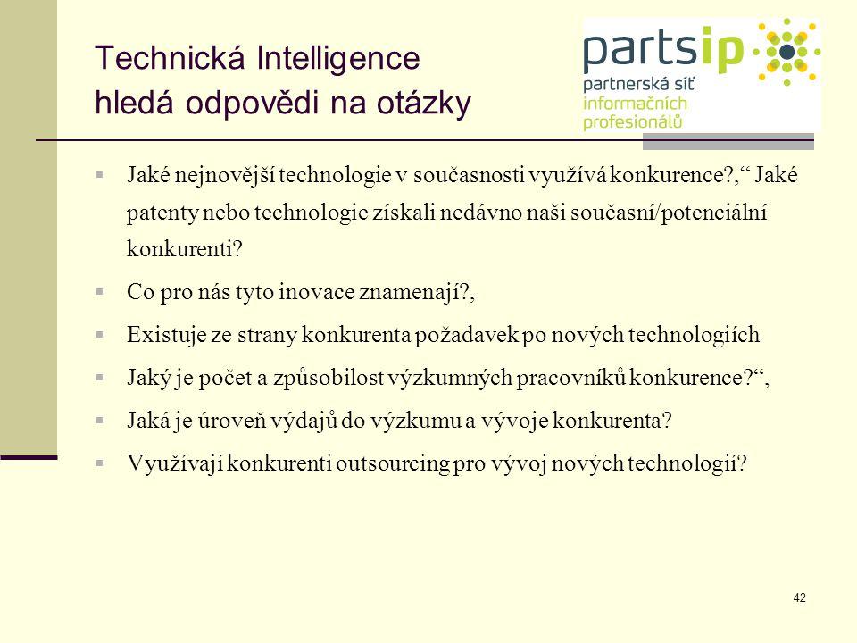 Technická Intelligence hledá odpovědi na otázky