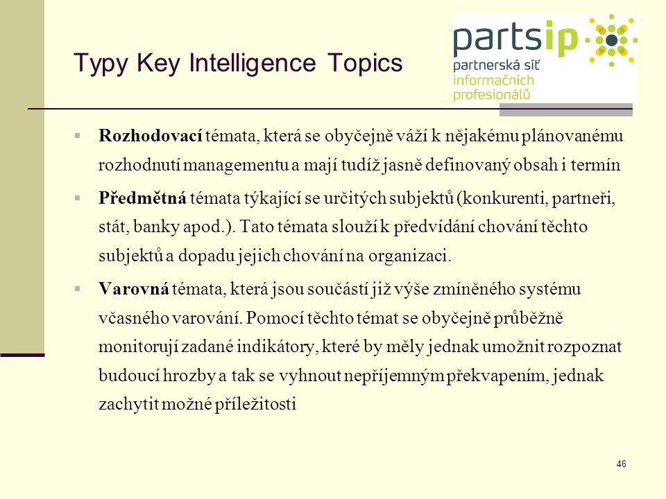 Typy Key Intelligence Topics