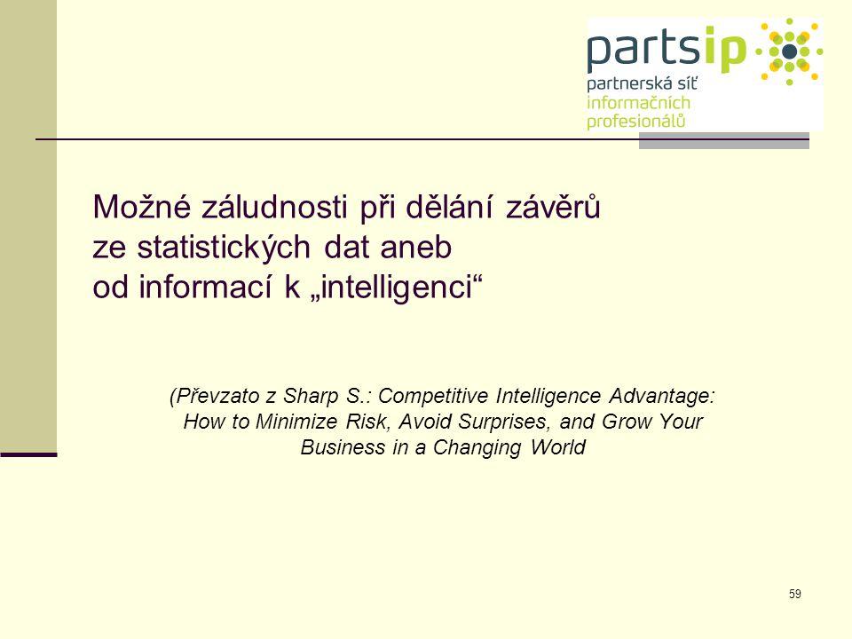 """Možné záludnosti při dělání závěrů ze statistických dat aneb od informací k """"intelligenci"""
