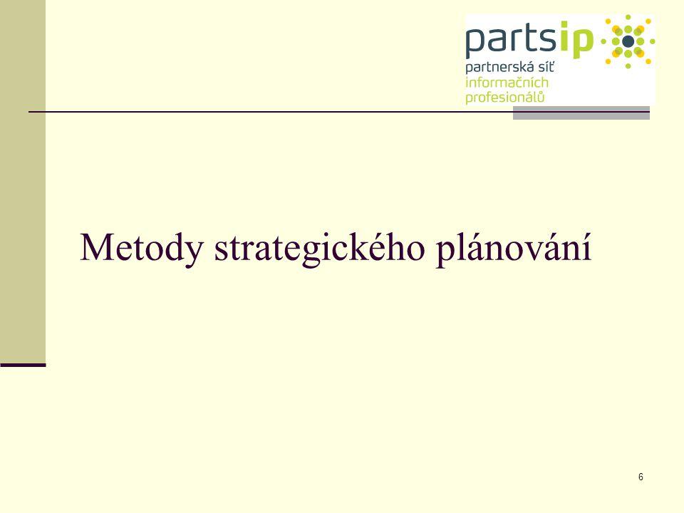 Metody strategického plánování