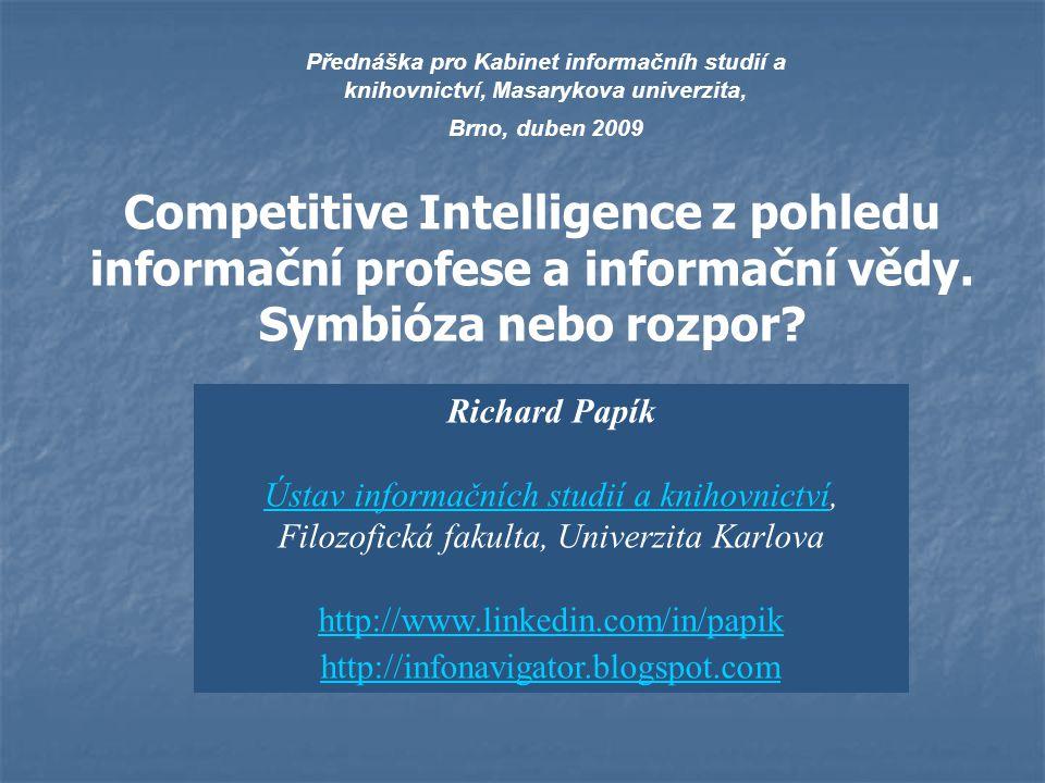 Přednáška pro Kabinet informačníh studií a knihovnictví, Masarykova univerzita,