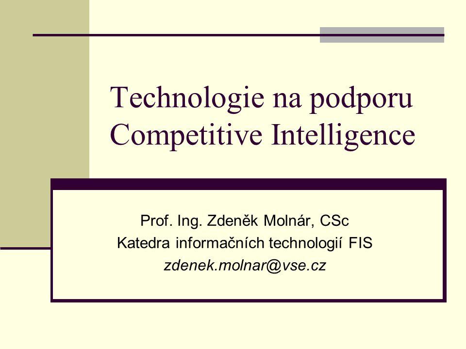 Technologie na podporu Competitive Intelligence