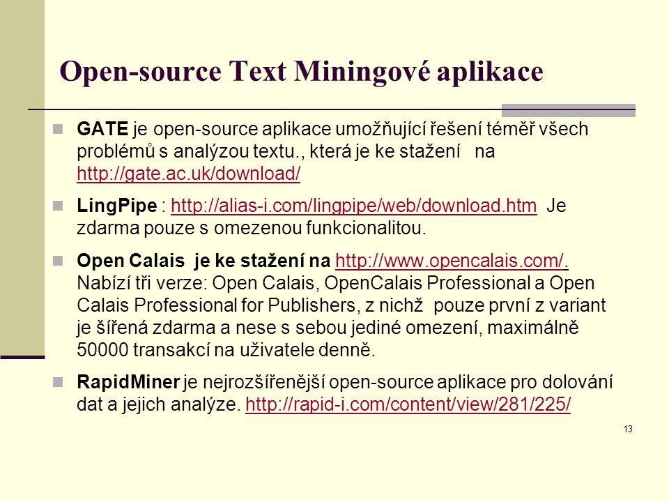 Open-source Text Miningové aplikace