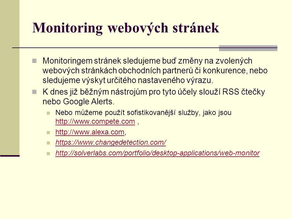 Monitoring webových stránek
