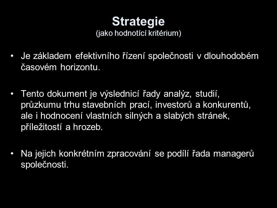 Strategie (jako hodnotící kritérium)
