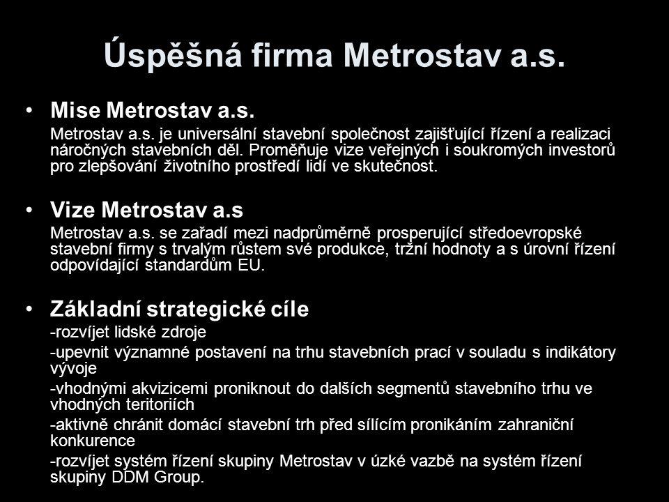 Úspěšná firma Metrostav a.s.