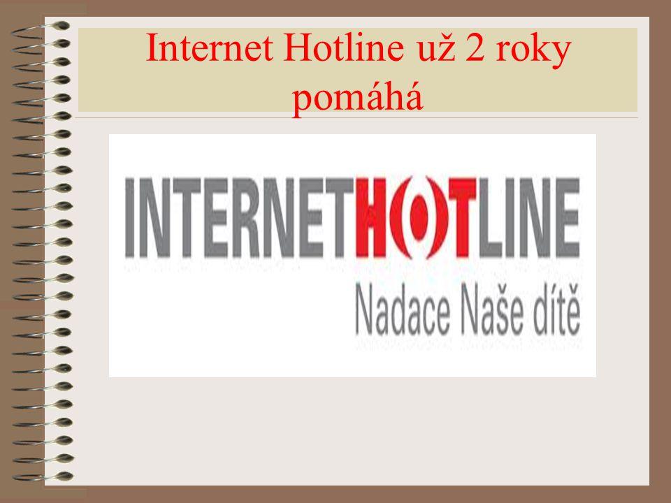 Internet Hotline už 2 roky pomáhá