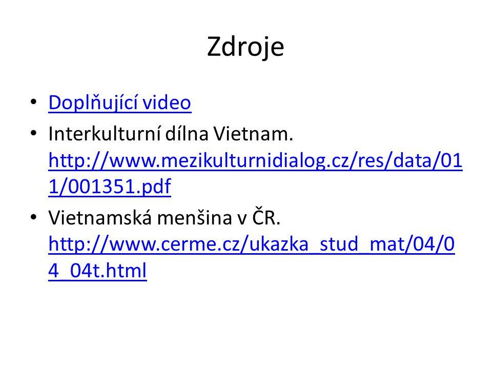 Zdroje Doplňující video