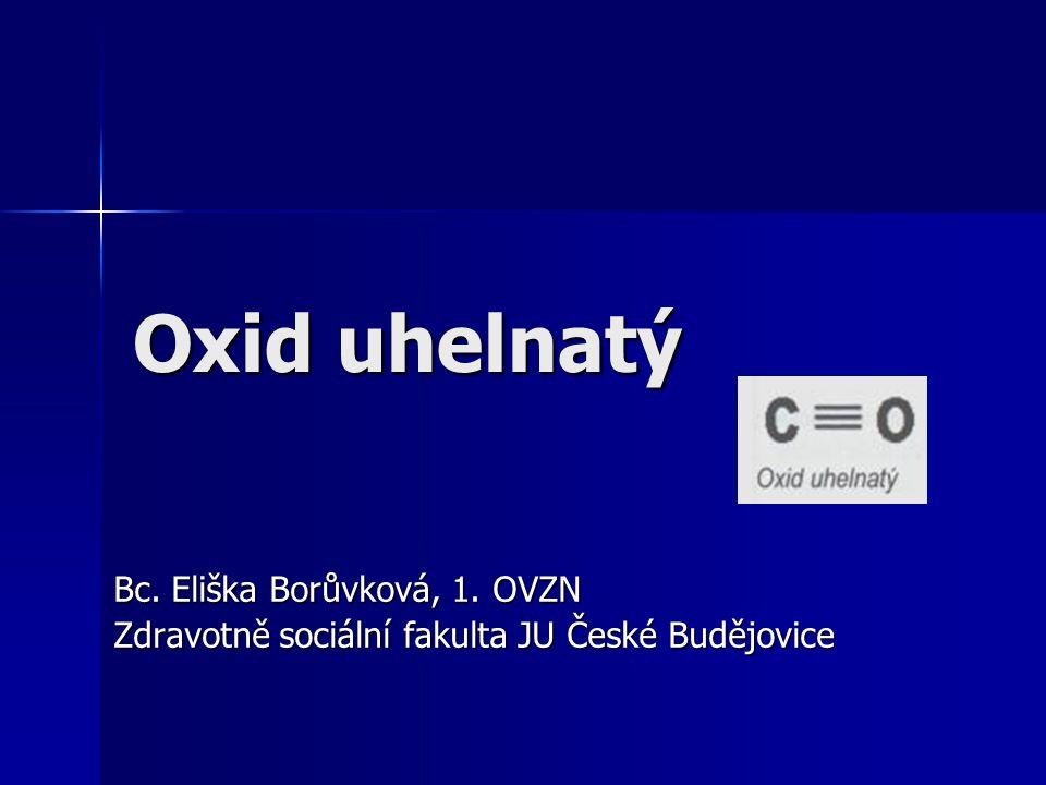Oxid uhelnatý Bc. Eliška Borůvková, 1. OVZN