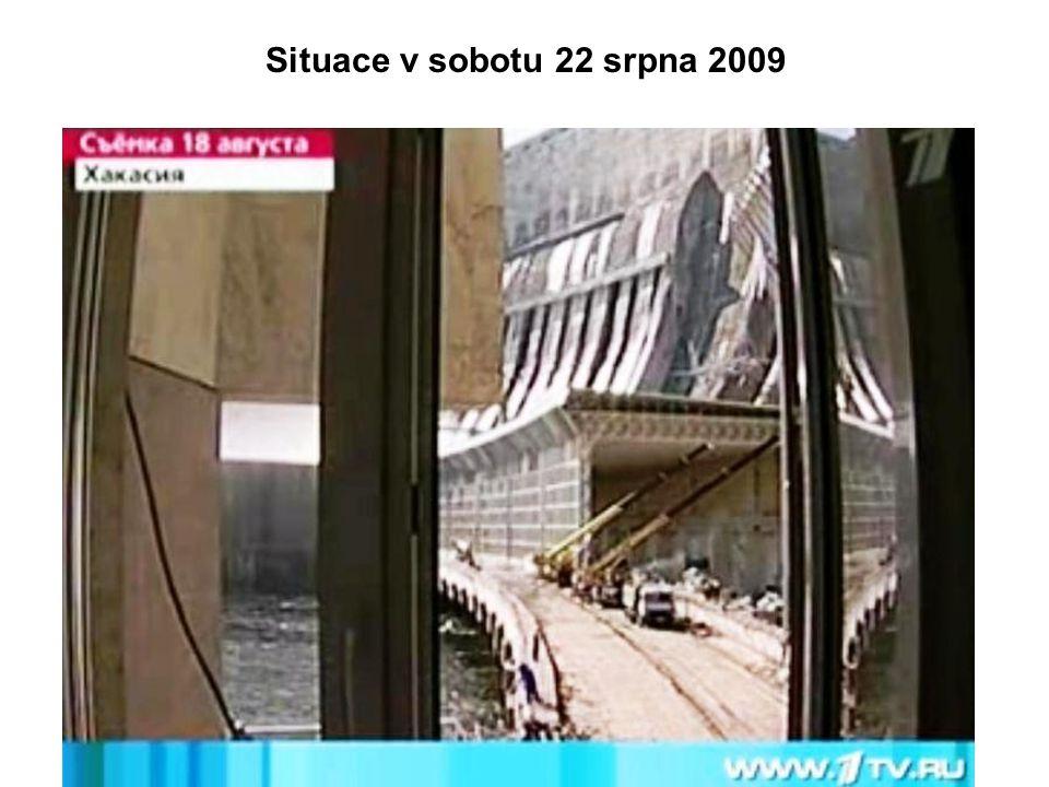 Situace v sobotu 22 srpna 2009