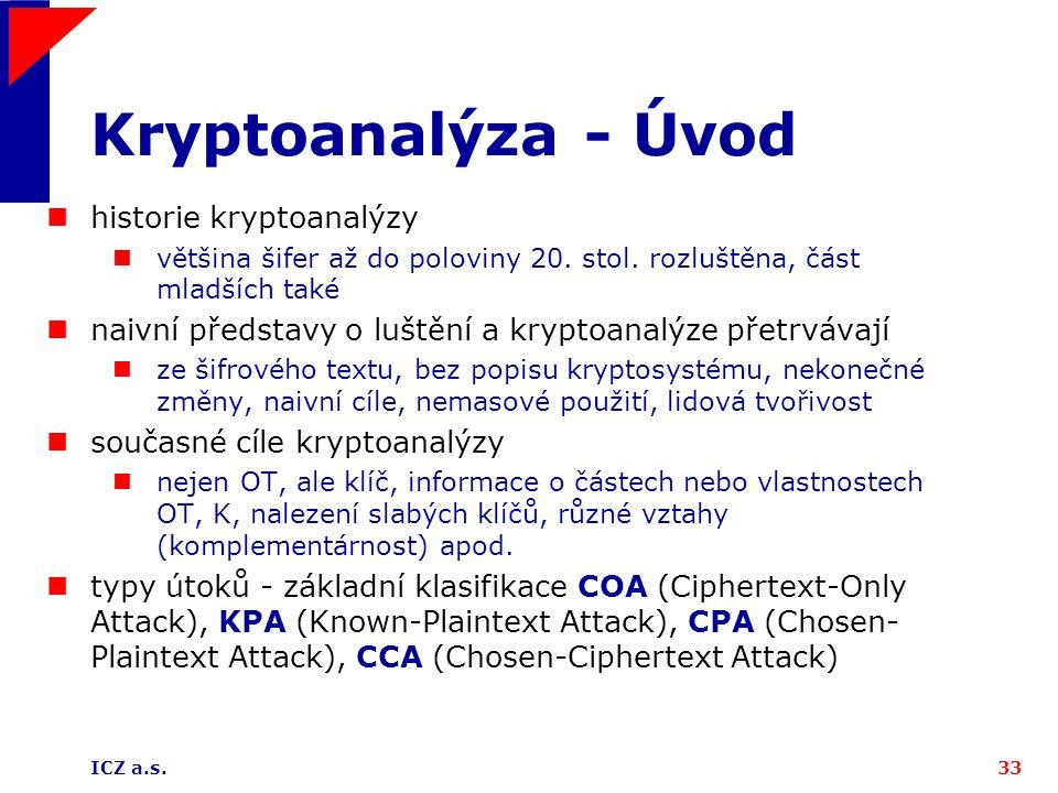 Kryptoanalýza - Úvod historie kryptoanalýzy
