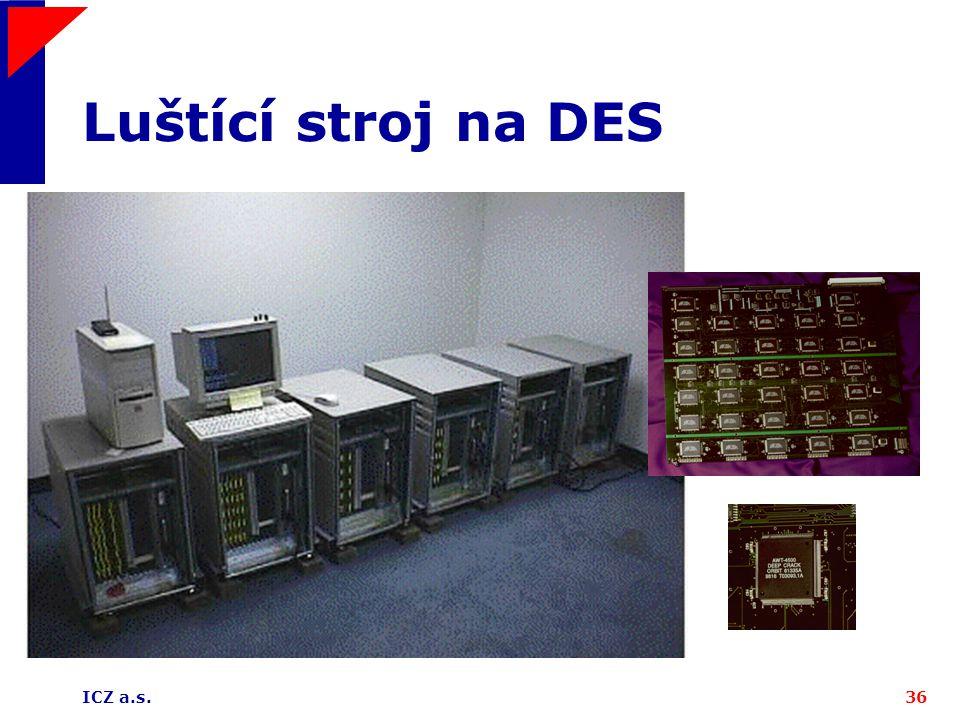 Luštící stroj na DES ICZ a.s.