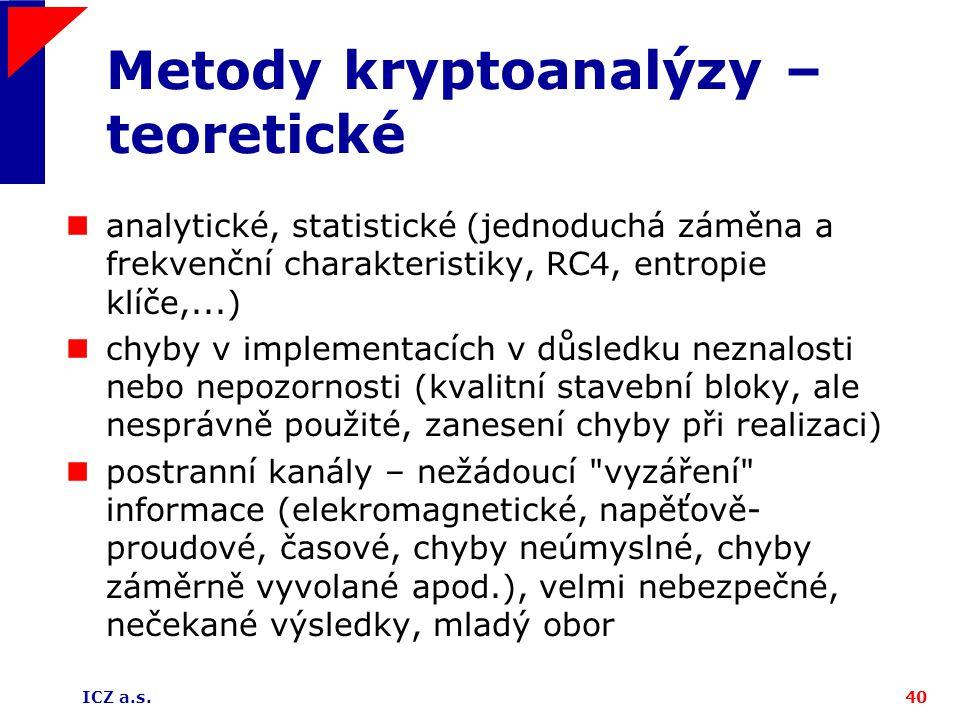 Metody kryptoanalýzy – teoretické