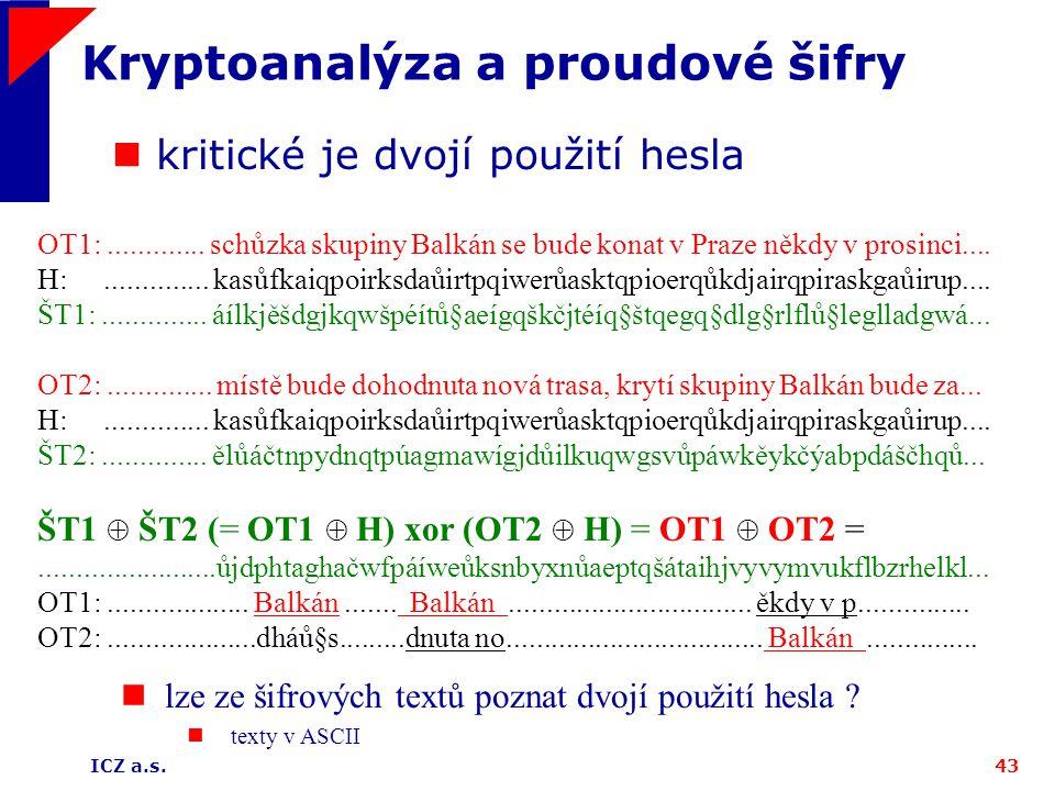 Kryptoanalýza a proudové šifry