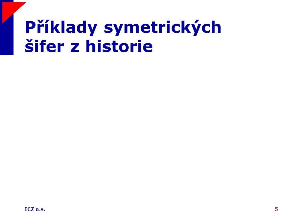 Příklady symetrických šifer z historie