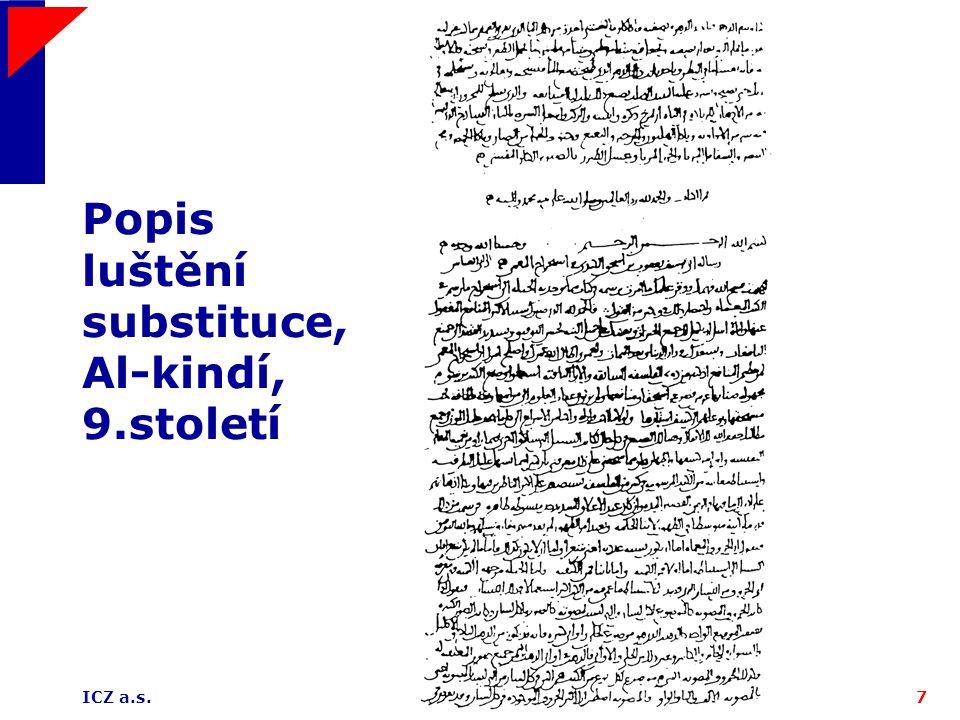 Popis luštění substituce, Al-kindí, 9.století