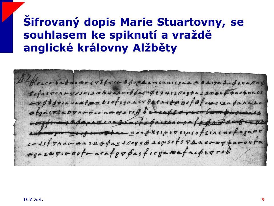 Šifrovaný dopis Marie Stuartovny, se souhlasem ke spiknutí a vraždě anglické královny Alžběty