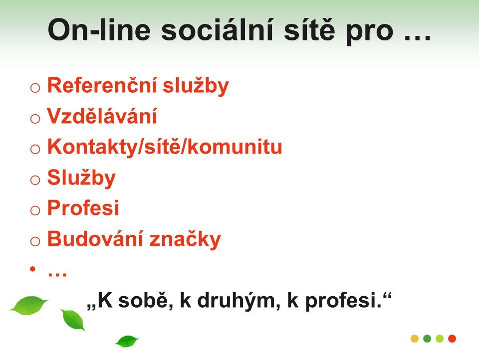 On-line sociální sítě pro …