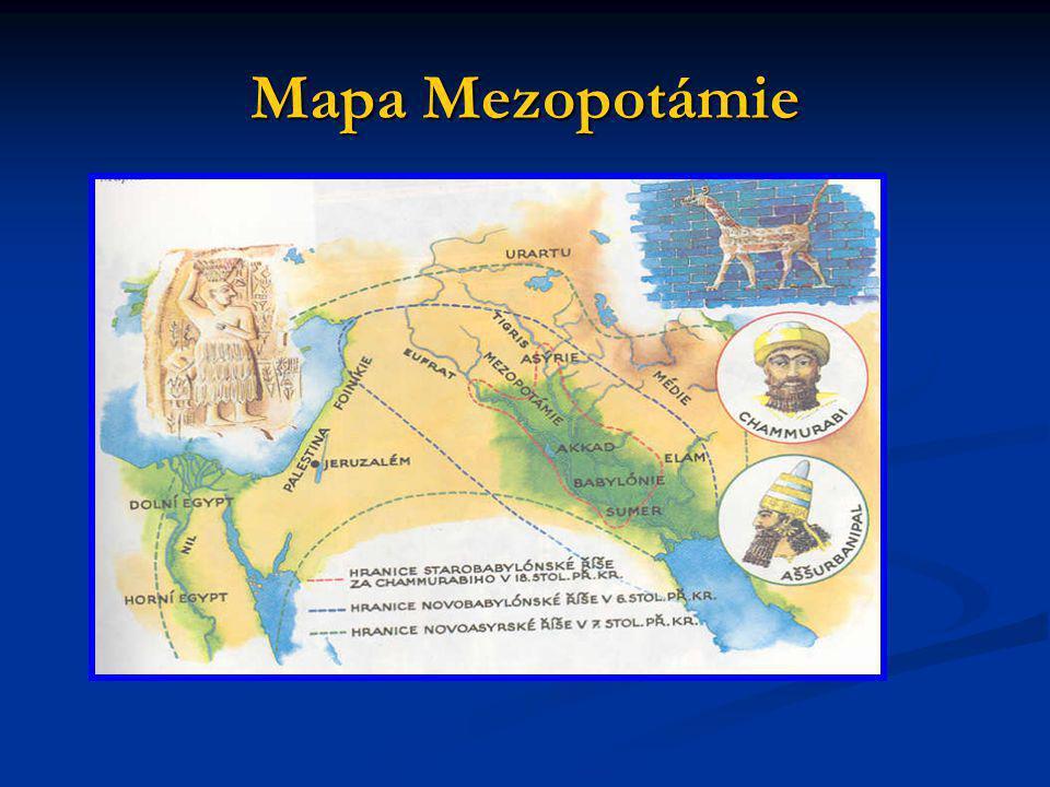 Mapa Mezopotámie