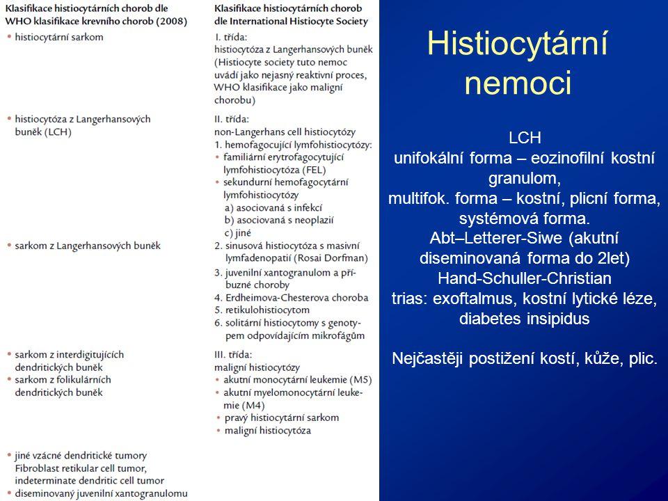 Histiocytární nemoci LCH