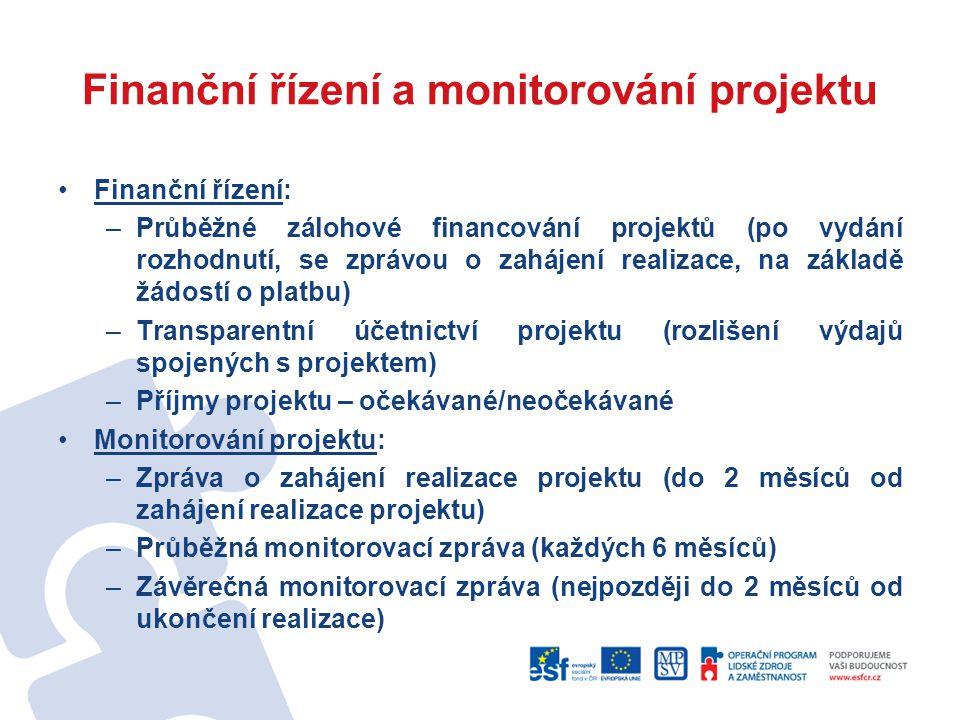 Finanční řízení a monitorování projektu