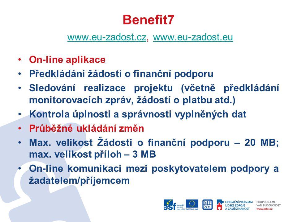 Benefit7 www.eu-zadost.cz, www.eu-zadost.eu
