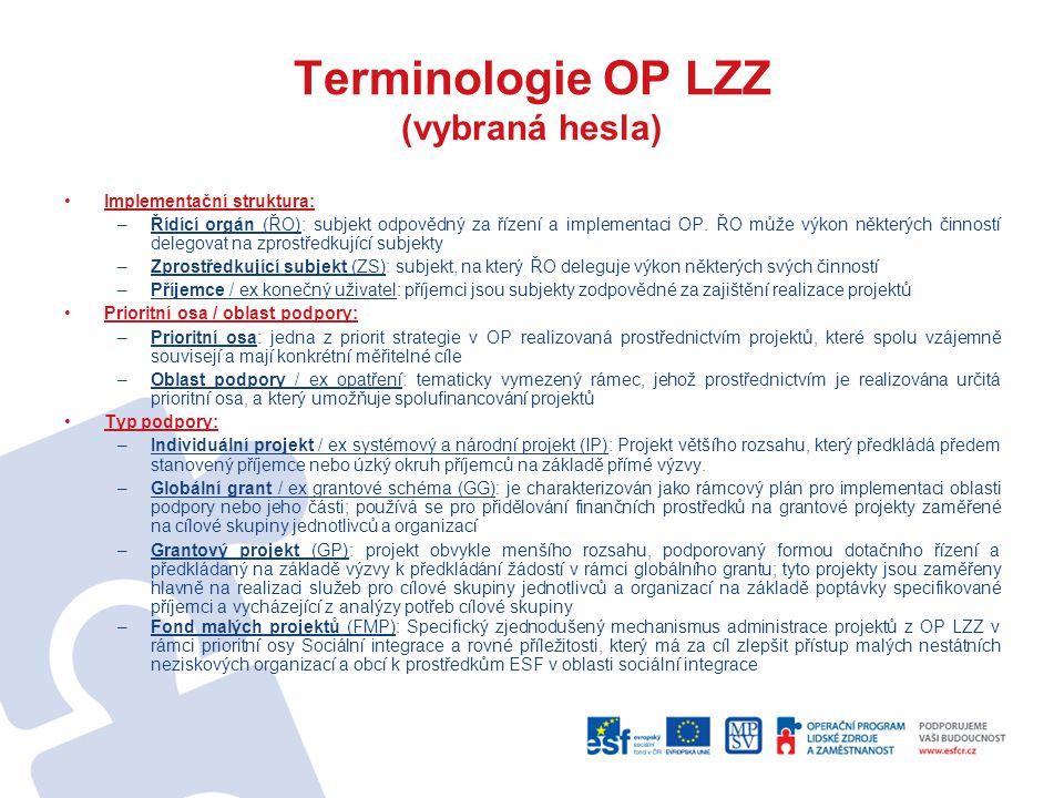 Terminologie OP LZZ (vybraná hesla)
