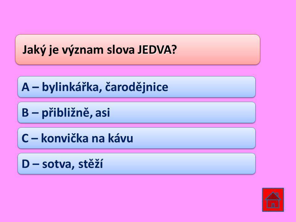 Jaký je význam slova JEDVA