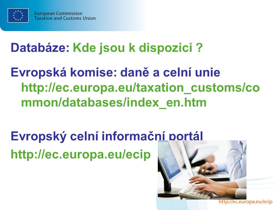 Databáze: Kde jsou k dispozici