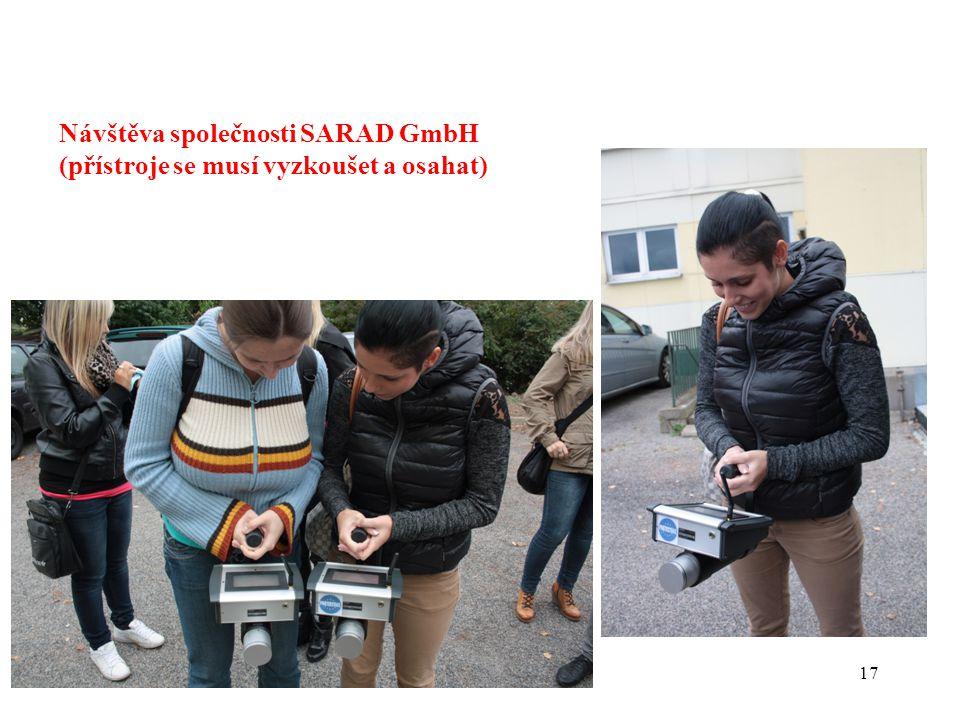 Návštěva společnosti SARAD GmbH (přístroje se musí vyzkoušet a osahat)