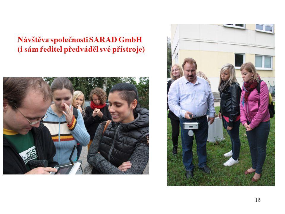 Návštěva společnosti SARAD GmbH (i sám ředitel předváděl své přístroje)