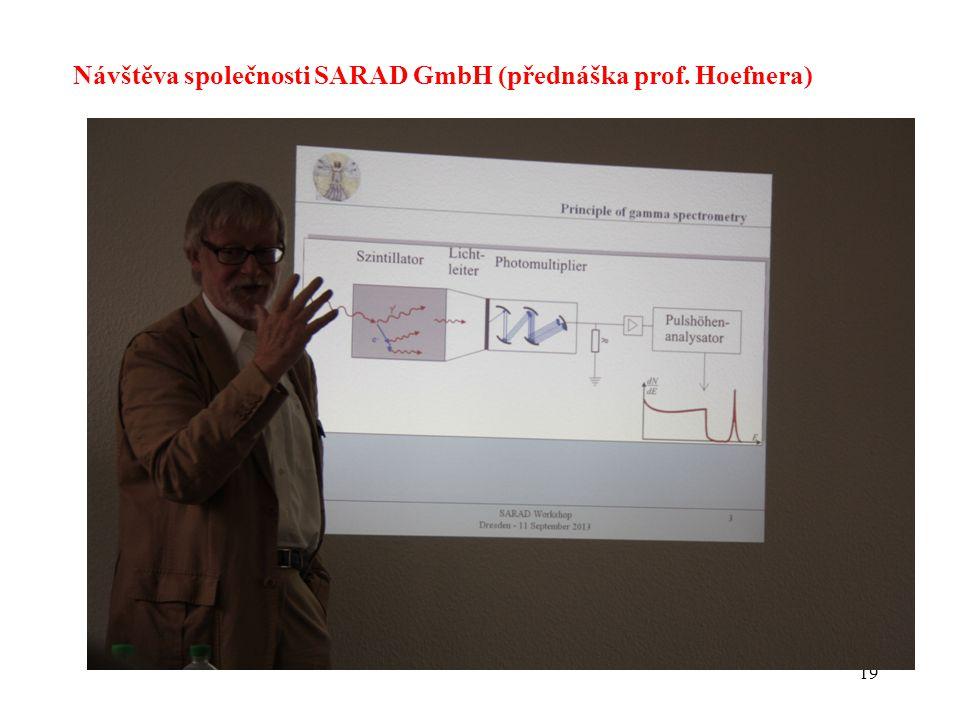 Návštěva společnosti SARAD GmbH (přednáška prof. Hoefnera)