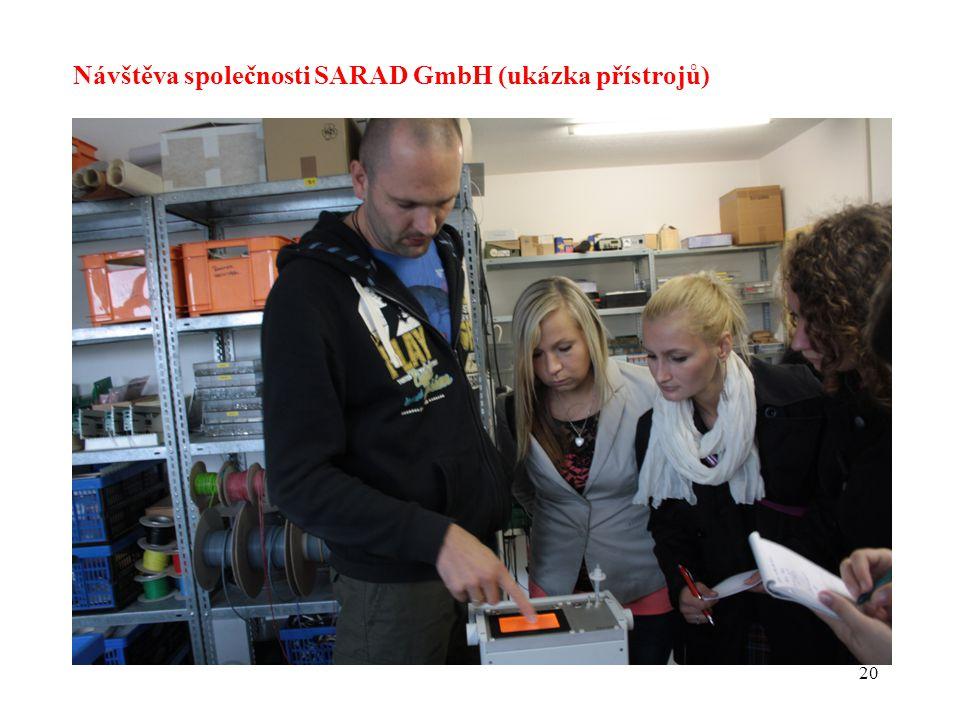 Návštěva společnosti SARAD GmbH (ukázka přístrojů)