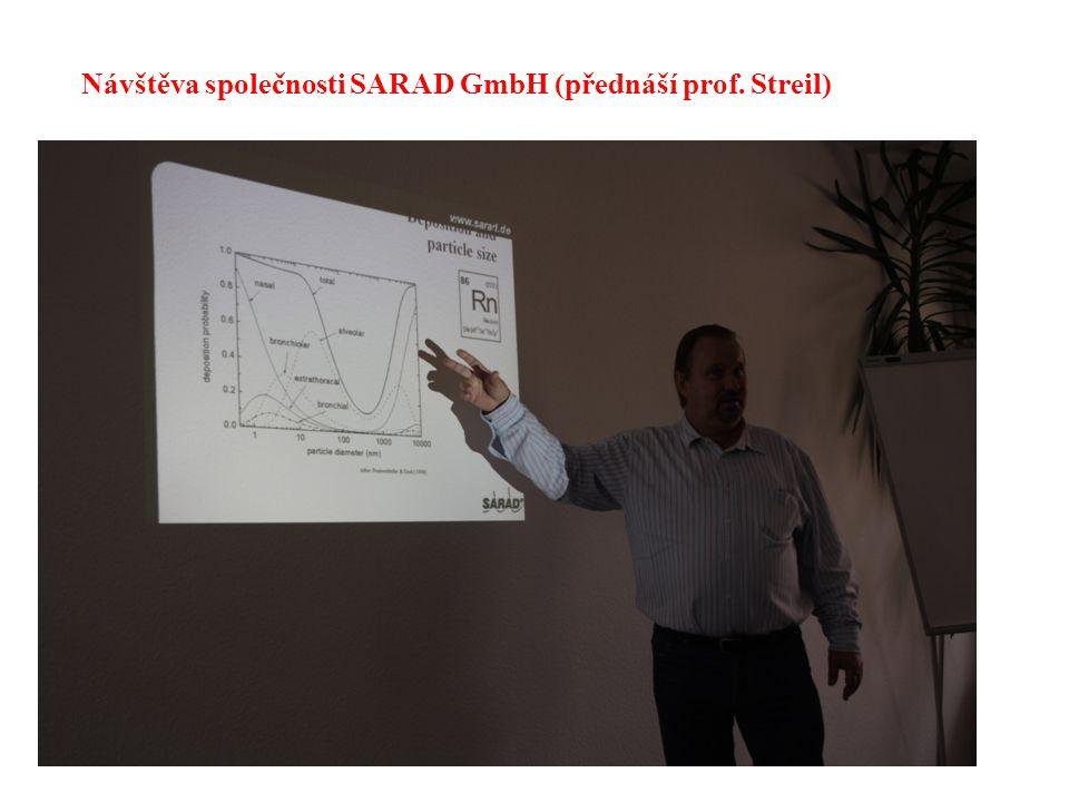 Návštěva společnosti SARAD GmbH (přednáší prof. Streil)
