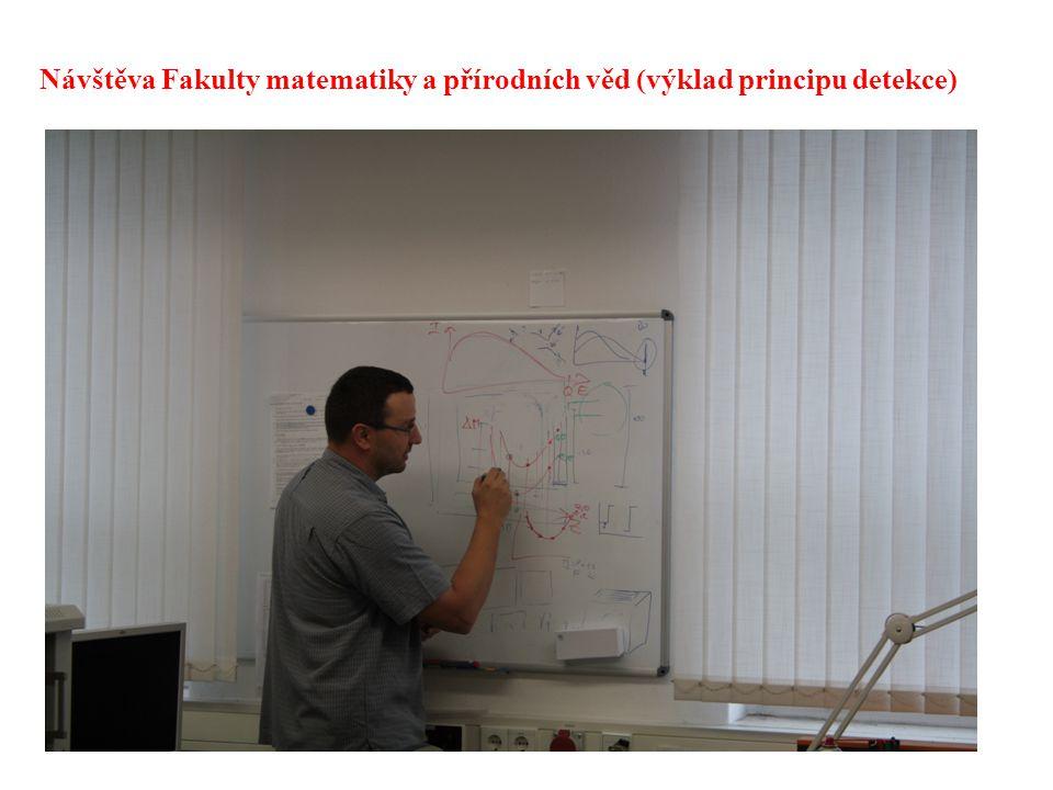 Návštěva Fakulty matematiky a přírodních věd (výklad principu detekce)