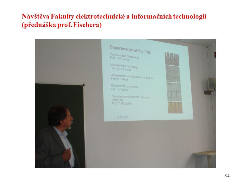 Návštěva Fakulty elektrotechnické a informačních technologií (přednáška prof. Fischera)