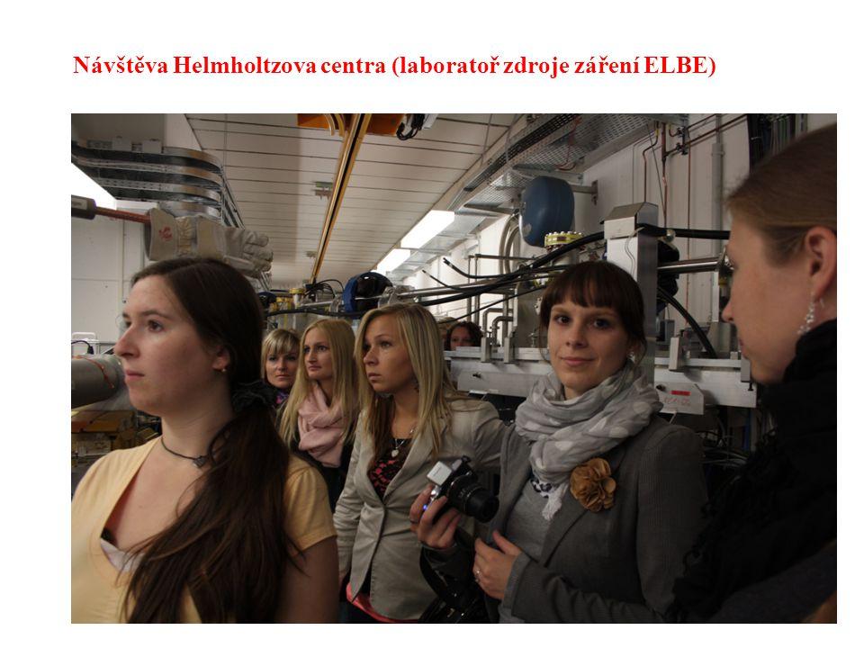 Návštěva Helmholtzova centra (laboratoř zdroje záření ELBE)