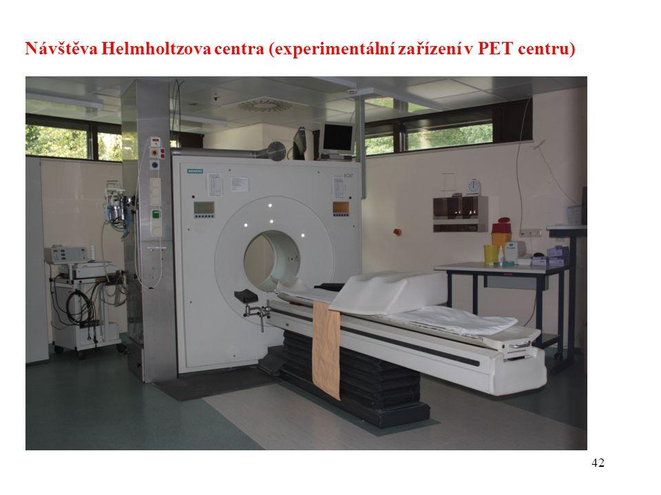 Návštěva Helmholtzova centra (experimentální zařízení v PET centru)