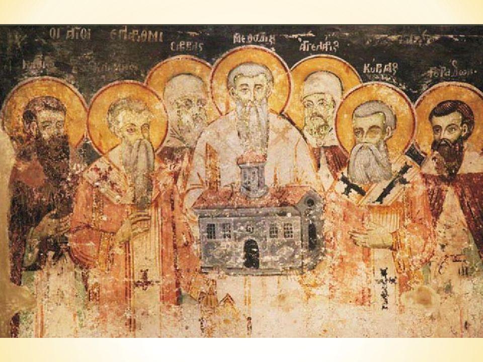 Svatý Metoděj se po smrti svého bratra v Římě roku 869 vrátil na Velkou Moravu, i když ne hned, protože byl v Bavorsku na tři a půl roku uvězněn. Byl jmenován biskupem a apoštolským legátem pro Slovany. Jeho působení na Velké Moravě nebylo jednoduché, protože se zde značně změnily politické poměry. Traduje se, že Metoděj zemřel na Velké Moravě, ale jeho hrob dosud nebyl nalezen.
