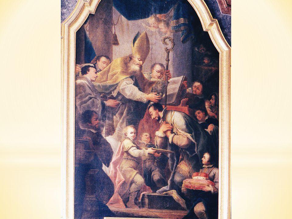 Na oltářním obraze v kapli sv. Metoděje najdeme obraz, jak sv