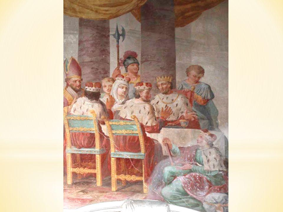 Druhý obraz v kapli sv. Cyrila zaznamenává událost, kterou líčí Kristiánova legenda napsaná asi v 10. stol.