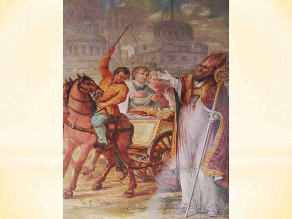 V kapli sv. Metoděje vidíme epizodu z návratu sv. Metoděje z Říma