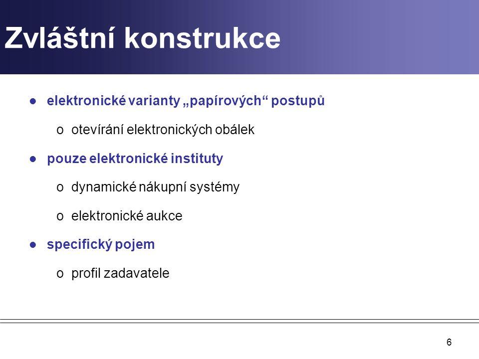 """Zvláštní konstrukce elektronické varianty """"papírových postupů"""