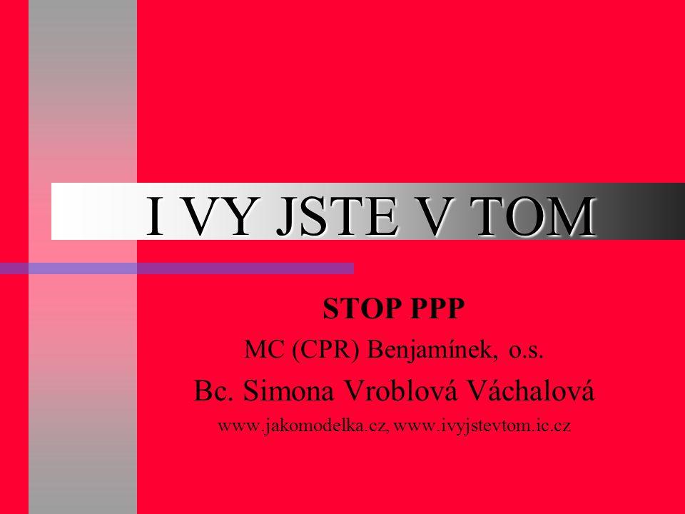 I VY JSTE V TOM STOP PPP Bc. Simona Vroblová Váchalová