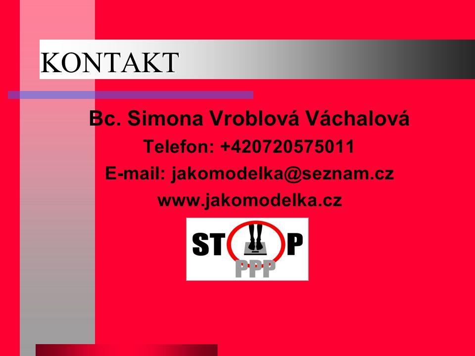 Bc. Simona Vroblová Váchalová E-mail: jakomodelka@seznam.cz